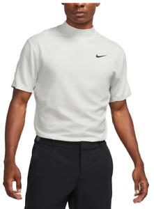 Nike Golf Tiger Woods Dri Fit Mock Golf Shirt NEW CU9526 100 White Sz M