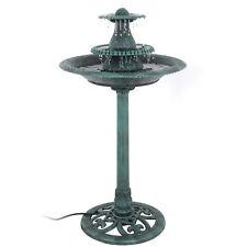 Fountain Bird Bath Water 3 Tier Pedestal Garden Patio Outdoor Decor W/ Pump