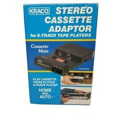 New ListingVintage Kraco Stereo Cassette Adapter 8-Track Tape Players Model Kca-7A Black