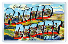 GREETINGS FROM PAINTED DESERT ARIZONA FRIDGE MAGNET SOUVENIR IMAN NEVERA