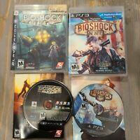 Lot of 2 PS3 Video Games - Bioshock & Infinite CIB Complete 2K Playstation 3