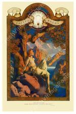 1918 Maxfield Parrish Edison Mazda DAWN print ad fine art print 16x24