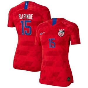 NIKE Megan Rapinoe #15 USA WOMENS Red 2019 World Cup SOCCER JERSEY, Size 24, NWT