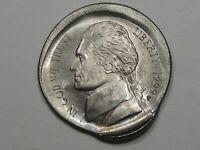 1999-p Jefferson Nickel w/ Double ERROR: Broad-Struck & Double-Struck.  #34