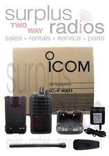 Refurbished Icom F3001 03 RC VHF 5W 16Ch 136-174MHz Radio Security Construction