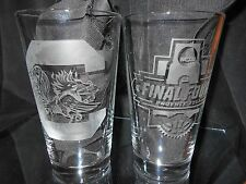 2017 FINAL FOUR CONTENDER SOUTH CAROLINA GAMECOCKS ETCHED 16 oz PINT GLASSES (2)