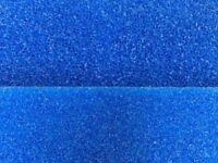 Filterschwamm Filtermatte blau 100 x 50 x 5 cm Grob und Fein für Teich Aquarium