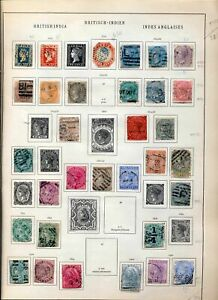INDIA 1854//1900 Imperf Perf Used on Old Page Incl.Specimen(30+Items)ZZ 1637