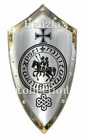 Medieval Knight Armor Templar Shield Steel Handcrafted Reenactment Armour SCA
