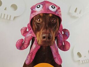 Octopus Pet Costume XL Dogs Ocean Sea Party Pink Headpiece NEW 1178