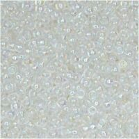 Miyuki Round Rocaille Seed Beads Size 11/0 24GM Crystal AB 11-250-5