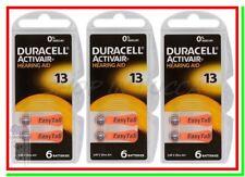 18 DURACELL 13 Batterie PR48 Activair Protesi Pile per Apparecchi Acustici Udito