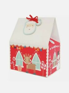 4 x Christmas treat boxes, Gingerbread house design + gift tags FREEPOST