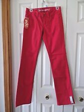 NWT EDC By Esprit sz 4 FIVE red colored slim jeans 4 Regular  $49.50 MSRP
