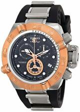 INVICTA MENS 50MM SUBAQUA NOMA IV QUARTZ CHRONO ROSE GOLD BLACK BAND WATCH 16141