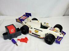 Vtg Hasbro 1995 Playskool COOL TOOLS Indy RACE CAR w PIT CREW Gear & Screwdiver