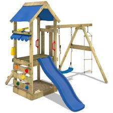 WICKEY FreshFlyer Spielturm Kletterturm Schaukel Sandkasten Rutsche Holz