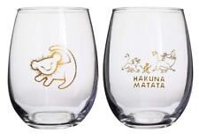 Disney Lion King Hakuna Matata Stemless Wine Glasses 16oz Set of 2 *