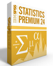 SPSS Statistics Grad Pack 24.0 PREMIUM-Windows or Mac - 12 month license