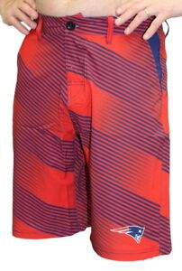 New England Patriots NFL Diagonal Striped Men's Casual Polyester Walking Shorts