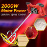 2000W Electric Handheld Cement Plaster Mortar Grout Mixer Paint Mixing Stirrer