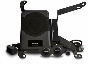 ALPINE PSS-23WRA Subwoofer+Amp+Tweeters For 2018-Up Jeep Wrangler Unlimited JL