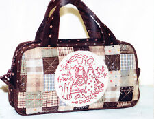 PATTERN - Stitching with Friends - stitchery & pieced bag PATTERN -The Birdhouse
