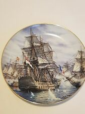 Hamilton Collection, China Wall Plate, Breaking the Line, Battle of Trafalgar