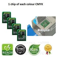 4 Compatible Toner Chips for Use in OKI C9600/C9650/C9800/C9850 Imprimantes