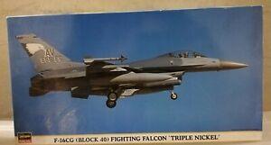 HASEGAWA 1 48 F-16CG (BLOCK 40) FIGHTING FALCON TRIPLE Nickel + BONUS