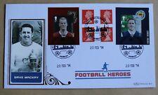 Football Heroes Dave Mackay Booklet Pane 2014 Benham FDC Wembley Handstamp
