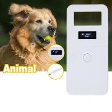 134.2 KHz Portable Animal ID Reader OLED Display RFID Pet USB Microchip Scanner