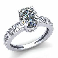 Genuine 0.25ct Oval Cut Diamond Ladies Bridal Solitaire Engagement Ring 10K Gold