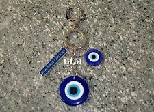 Feng Shui = Evil Eye With Om Mani Padme Hum Keychain