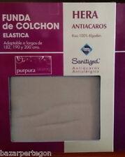 funda de colchón Hera 100% algodón facil colocación, cremallera antiacaros  Home
