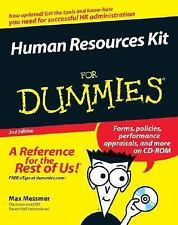 HUMAN RESOURCES KIT FOR DUMMIES- W/CD PAPERBACK