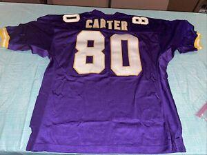Adult 52 Authentic NFL Pro Line Starter Minnesota Vikings Cris Carter Jersey