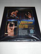 New Wwe Rusev Day Cena #/99 Fastlane Plaque Ring Mat Relic Memphis Tn Wm Bo Ds