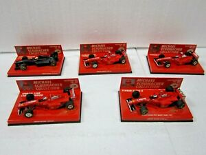 5 X MINICHAMPS~METALL~1:43~M. SCHUMACHER COLLECTION~EDITION 43~35-39~NEU+OVP~TOP