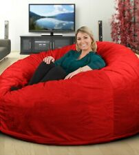 ULTIMATE SACK 6000 Extra Large Bean Bag Chair - Red Suede