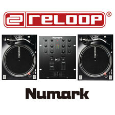 Reloop RP-7000 MKII DJ Vinyl Turntable Deck (x2) & Numark M101USB Mixer Bundle