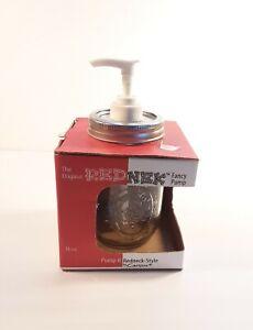 Redneck Fancy Pump 16oz Carson 22228 Mason Jar Condiment Dispenser