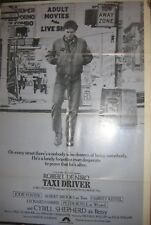 TAXI DRIVER Original  Movie Poster  27x40 One sheet iCONIC DeNiro style b NICE
