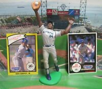 1990 KEN GRIFFEY JR. Starting Lineup Ext. (JUMP) Baseball Figure & 2 Cards