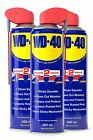 3 X WD-40 Multi-Use Cleaning Lubricant. 450ml With Smart Straw