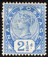 South Africa Natal 1891 bright-blue 2.5d crown CA mint SG113