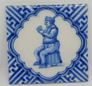 Delft Blue And White Tile MAN