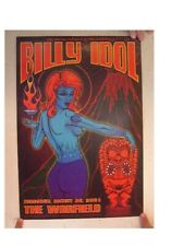 Billy Idol Concert Poster The Warfield August 30, 2001