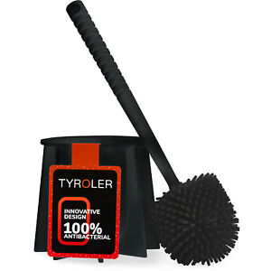 Antibacterial Toilet Brush Set Made of 100% Silicone