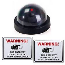 Fake Home Security System Dummy Dome Cctv Camera+Red Led Light
